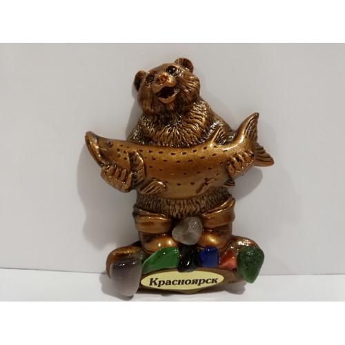 5. Контурные магниты с самоцветами (медведь)
